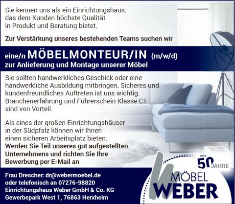 Karriere MÖBEL WEBER Neustadt, Landau, Karlsruhe